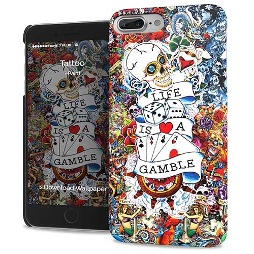 Cover Slim Rigida per iPhone 7/8 Plus | Tattoo