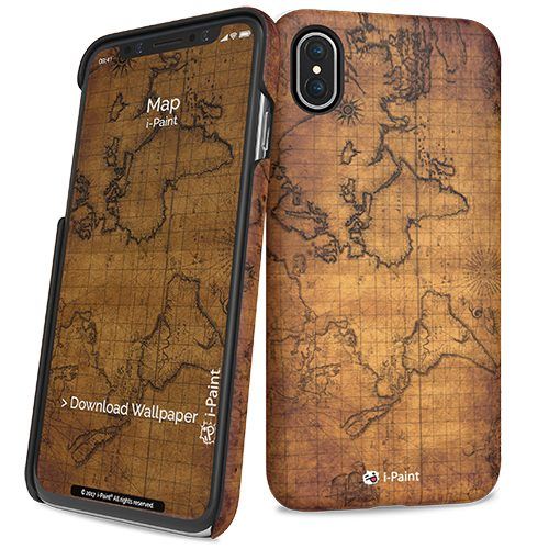 Cover Slim Rigida per iPhone X | Map