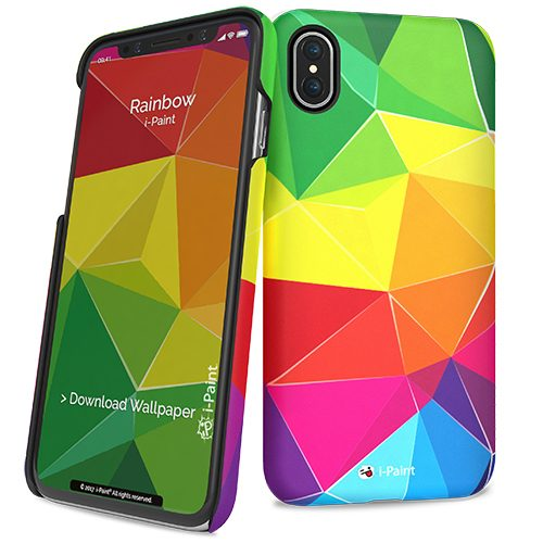 Cover Slim Rigida per iPhone X | Rainbow