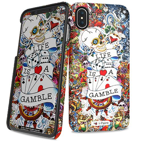 Cover Slim Rigida per iPhone X | Tattoo