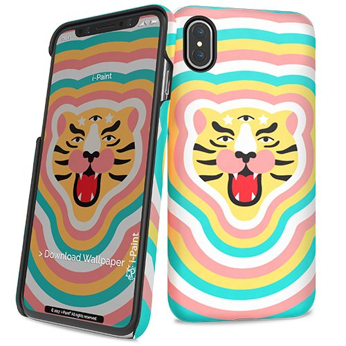 Cover Slim Rigida per iPhone X | Tiger Stars