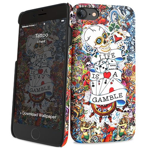 Cover Slim Rigida per iPhone 7/8 | Tattoo