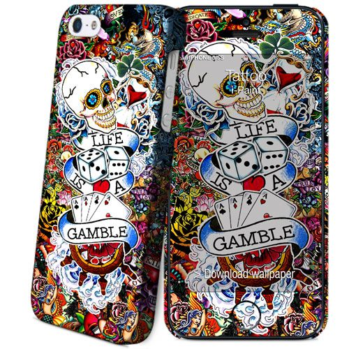 Cover Slim Rigida per iPhone SE/5S/5 | Tattoo