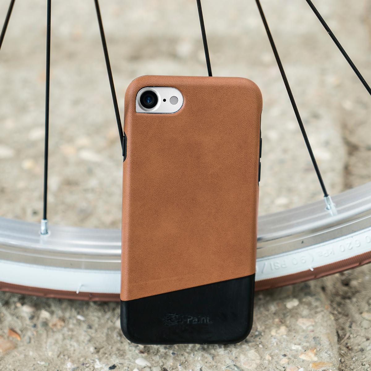 Cover in Pelle Premium per iPhone   Brown