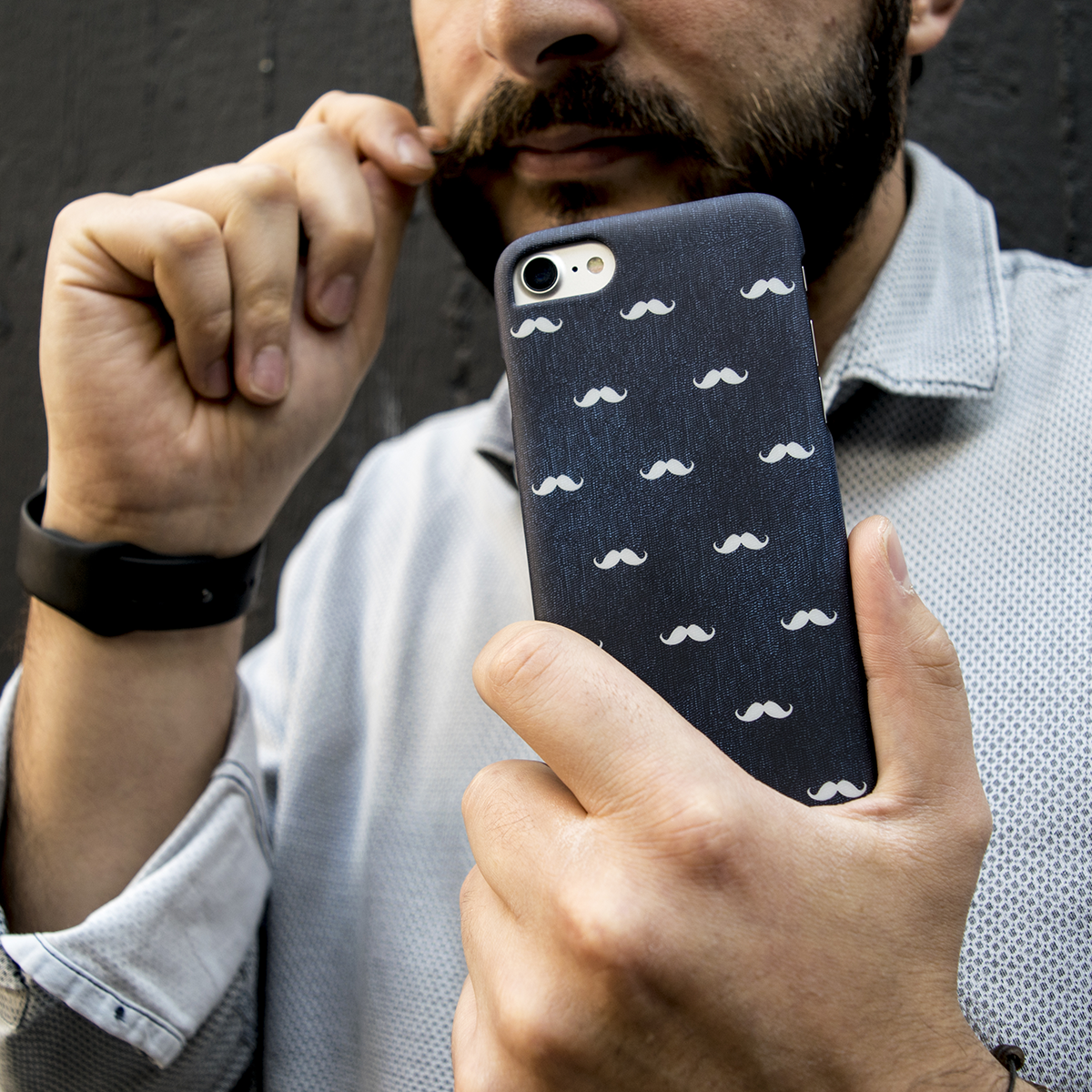 Cover Slim Rigida per iPhone | Mustaches