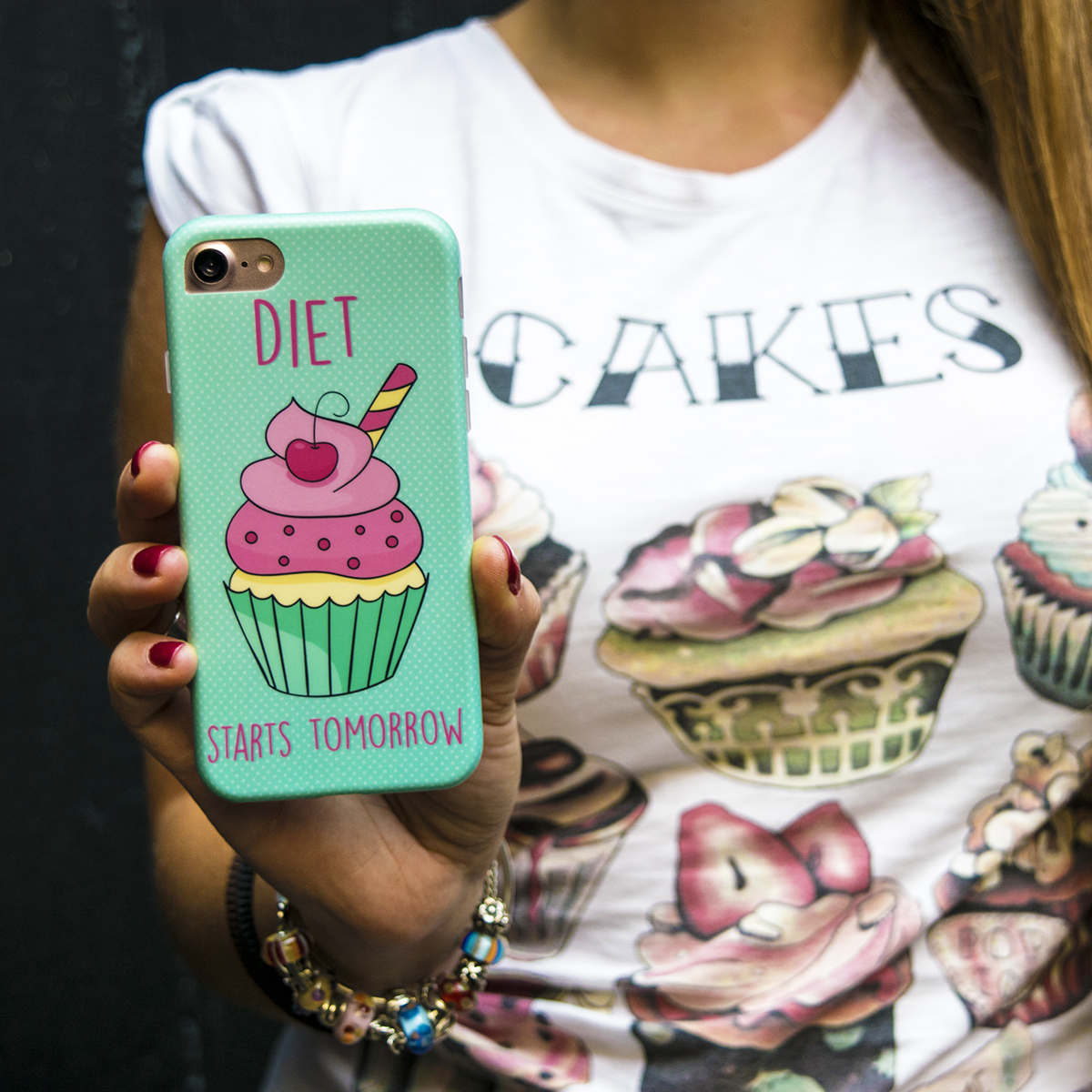 Cover Avvolgente Morbida per iPhone | Cup Cake