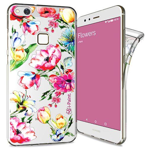 Cover Trendy SemiTrasparente per Huawei P10 Lite | Flowers