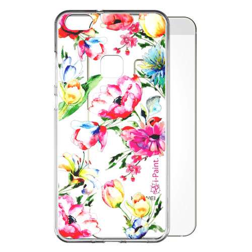 Cover Trendy SemiTrasparente per Huawei | Flowers