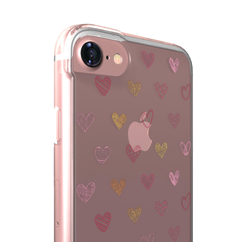 Cover Glamour SemiTrasparente per iPhone | Hearts