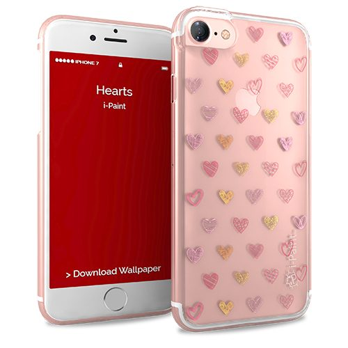 Cover Glamour SemiTrasparente per iPhone 7/8 | Hearts