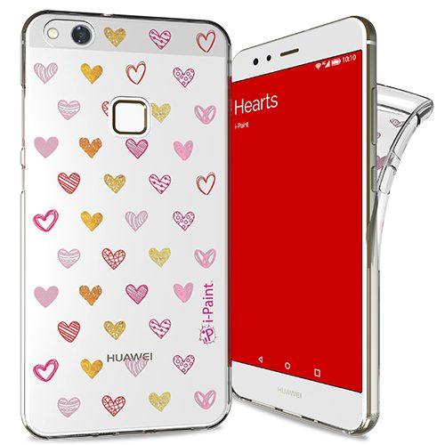 Cover Trendy SemiTrasparente per Huawei P10 Lite | Hearts