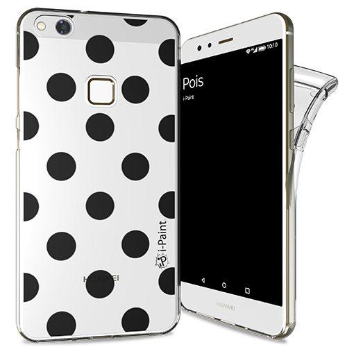 Cover Trendy SemiTrasparente per Huawei P10 Lite | Pois