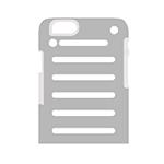 Cover in Metallo Leggero per iPhone | Black