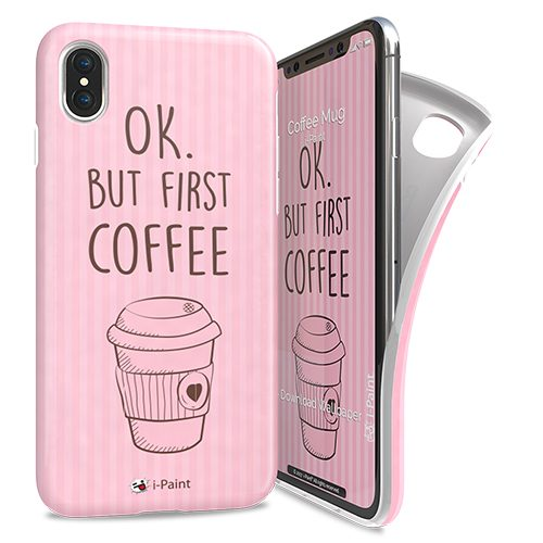 Cover Avvolgente Morbida per iPhone X/XS | Coffee Mug