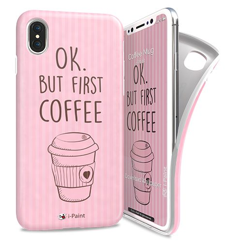 Cover Avvolgente Morbida per iPhone X | Coffee Mug