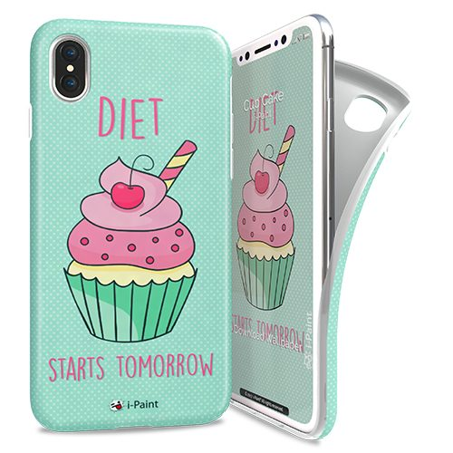 Cover Avvolgente Morbida per iPhone X | Cup Cake