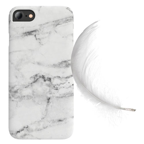 Cover Slim Rigida per iPhone | White Marble
