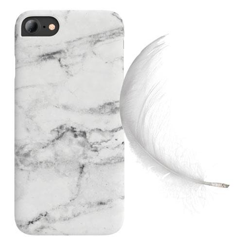 Cover Slim Rigida per iPhone | White Marble