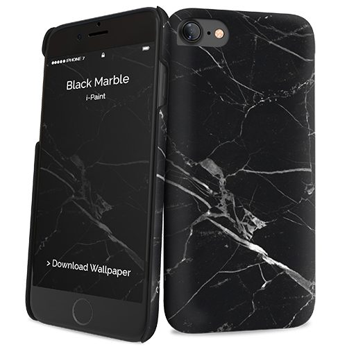 Cover Slim Rigida per iPhone 7/8 | Black Marble