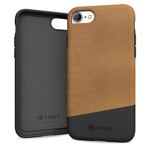 Cover in Pelle Premium per iPhone 7/8 | Brown
