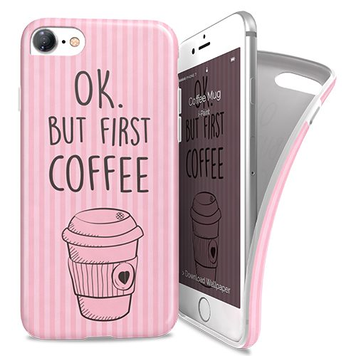 Cover Avvolgente Morbida per iPhone 7/8 | Coffee Mug
