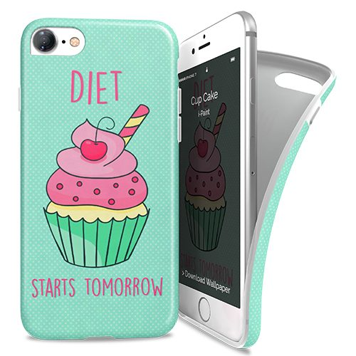 Cover Avvolgente Morbida per iPhone 7/8 | Cup Cake