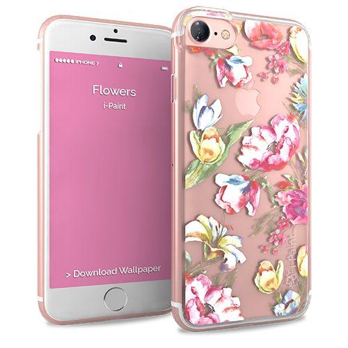Cover Glamour SemiTrasparente per iPhone 7/8 | Flower