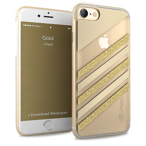 Cover Glamour SemiTrasparente per iPhone 7/8 | Gold