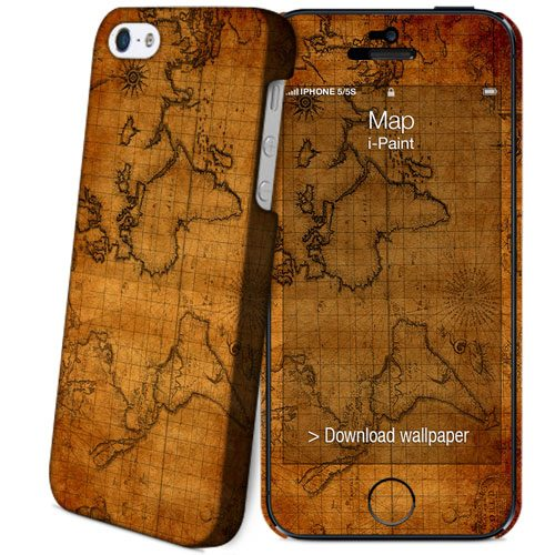 Cover Slim Rigida per iPhone SE/5S/5 | Map