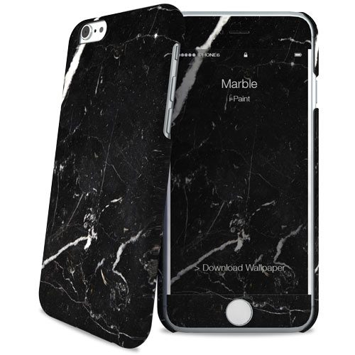 Cover Slim Rigida per iPhone 6/6S | Black Marble