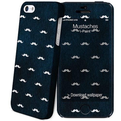Cover Slim Rigida per iPhone SE/5S/5 | Mustaches