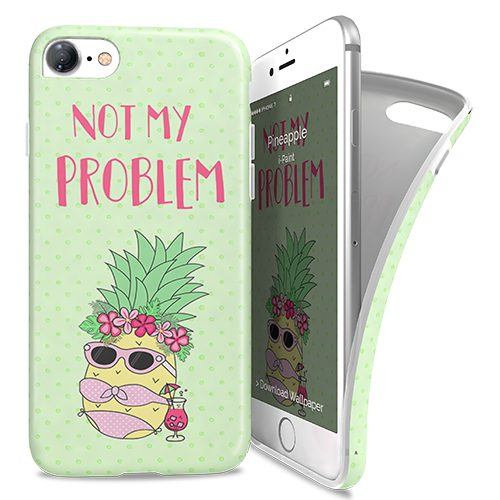 Cover Avvolgente Morbida per iPhone 7/8 | Pineapple