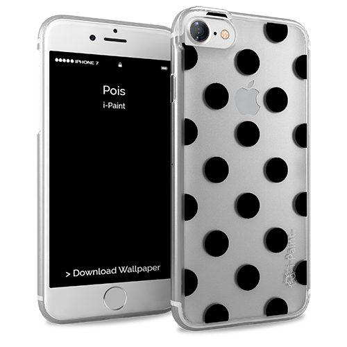 Cover Glamour SemiTrasparente per iPhone 7/8 | Pois