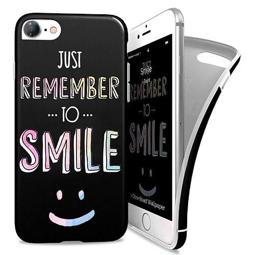 Cover Avvolgente Morbida per iPhone 7/8 | Smile
