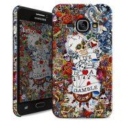 Cover Slim Rigida per Samsung Galaxy J1 2016 | Tattoo