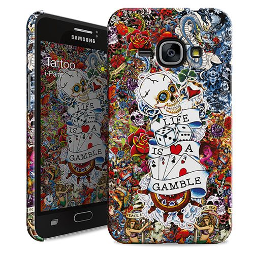 Cover Slim Rigida per Samsung Galaxy J1 2016 | Tattoo