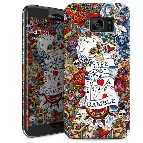 Cover Slim Rigida per Samsung Galaxy S7 Edge | Tattoo