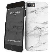 Cover Slim Rigida per iPhone 7/8 | White Marble