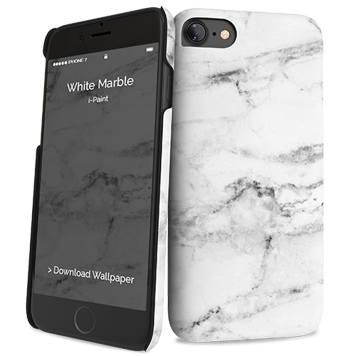 Cover Slim Rigida per iPhone 7/8 | White Marble