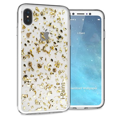 Cover Glitter Flakes per iPhone | Gold