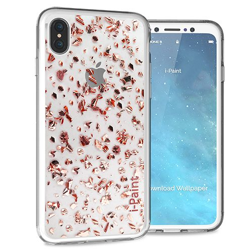 Glitter Flakes Case for iPhone X | Pink