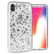 Cover Glitter Flakes per iPhone X | Silver
