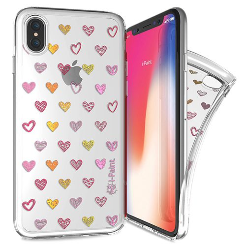 Cover Trendy SemiTrasparente per iPhone X/XS | Hearts
