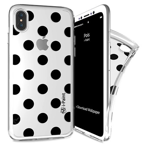 Cover Trendy SemiTrasparente per iPhone X | Pois