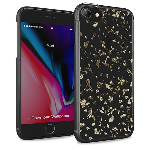 Cover Glitter Flakes per iPhone 7/8 | Gold
