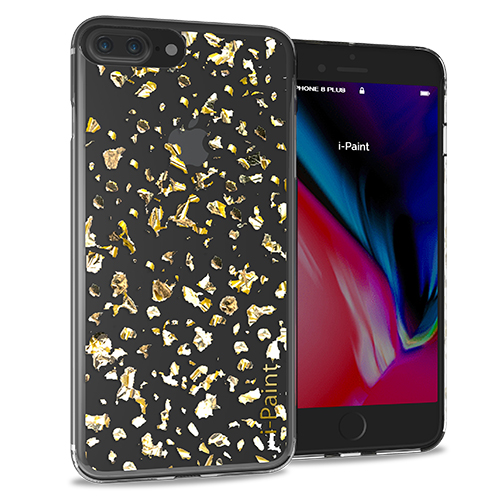 Cover Glitter Flakes per iPhone 7/8 Plus | Gold