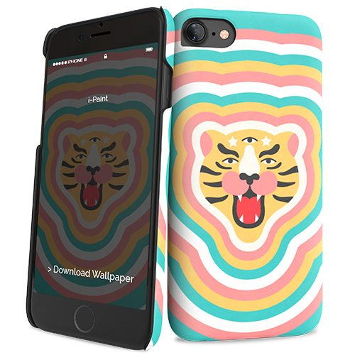 Cover Slim Rigida per iPhone 7/8 | Tiger Stars
