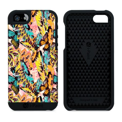 Cover in Tessuto per iPhone SE/5S/5   Butterfly