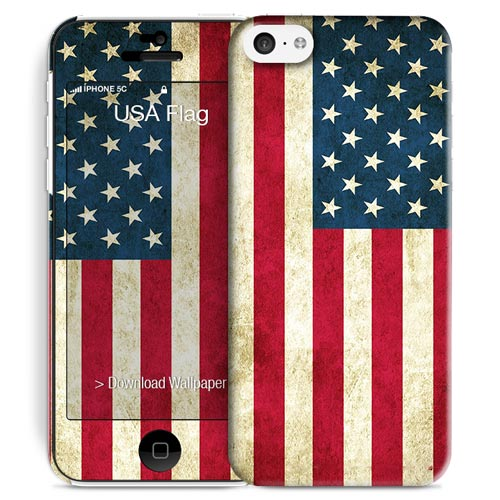 Cover Slim Rigida per iPhone 5C | USA Flag