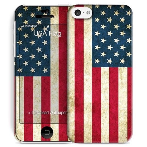 Cover Slim Rigida per iPhone 5C | USA Flag